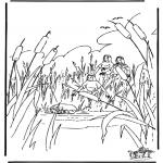 Disegni biblici da colorare - Mosè nella cesta