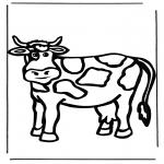Disegni da colorare  Animali - Mucca 1