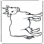 Disegni da colorare Animali - Mucca 2