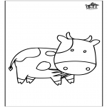 Disegni da colorare  Animali - Mucca 3