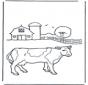 Mucca alla fattoria