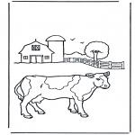 Disegni da colorare Vari temi - Mucca