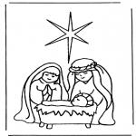 Disegni biblici da colorare - Nascita di Gesù 1