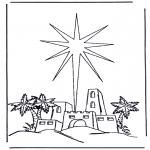 Disegni biblici da colorare - Nascita di Gesù 2