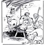 Disegni biblici da colorare - Nascita di Gesù