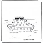 Disegni da colorare Vari temi - Nave a vapore