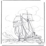 Disegni da colorare Vari temi - Nave a vela 1