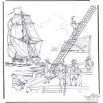 Disegni da colorare Vari temi - Nave a vela 2