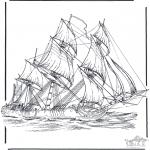 Disegni da colorare Vari temi - Nave a vela 3