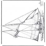 Disegni da colorare Vari temi - Nave a vela 4