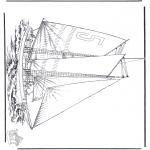 Disegni da colorare Vari temi - Nave a vela 5