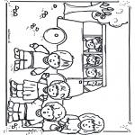 Disegni per i piccini - Nello scuolabus