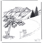 Disegni da colorare Inverno - Neve a Yellowstone 2