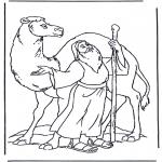 Disegni biblici da colorare - Noè con cammello