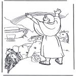 Disegni biblici da colorare - Noè e larcobaleno