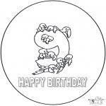 Disegni da colorare Temi - Nono compleanno!