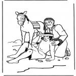 Disegni biblici da colorare - O bom samaritano 2