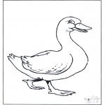 Disegni da colorare Animali - Oca 2