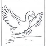 Disegni da colorare Animali - Oca volante