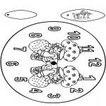 Lavori manuali - Orologio ragazzine delle fragole