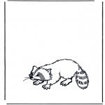 Disegni da colorare Animali - Orsetto lavatore