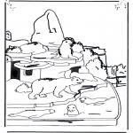 Disegni da colorare Animali - Orso bianco e otaria