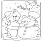 Orso nella neve