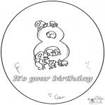 Disegni da colorare Temi - Ottavo compleanno!