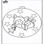 Disegni da colorare Natale - Palla di Natale - Angelo 2