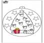 Palla di Natale con albero di Natale