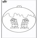 Disegni da colorare Natale - Palla di Natale - Elfo