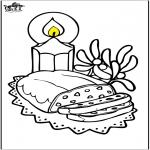 Disegni da colorare Natale - Pane di Natale