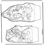 Disegni da bucherellare - Paperino - Disegno da bucherellare 1