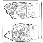 Disegni da bucherellare - Paperino - Disegno da bucherellare 2