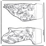 Disegni da bucherellare - Paperino - Disegno da bucherellare 3