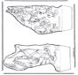 Paperino - Disegno da bucherellare 3