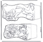Paperino - Disegno da bucherellare 4