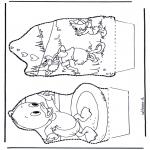 Disegni da bucherellare - Paperino - Disegno da bucherellare 5