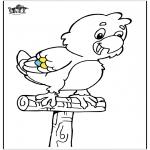 Disegni da colorare Animali - Pappagallo 1