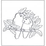 Disegni da colorare Temi - Pappagallo innamorato