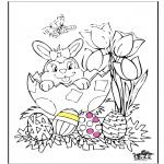 Disegni da colorare Temi - Pasqua 11