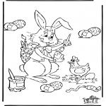 Disegni da colorare Temi - Pasqua 4