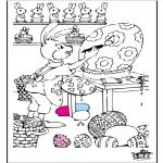 Disegni da colorare Temi - Pasqua 7