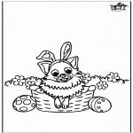 Disegni da colorare Temi - Pasqua - cane