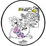Disegni da colorare Temi - Pasqua - Disegno da bucherellare 1