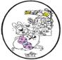 Pasqua - Disegno da bucherellare 1