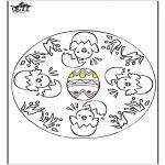 Disegni da colorare Temi - Pasqua - mandala 1