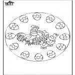 Disegni da colorare Temi - Pasqua - mandala 2