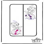 Disegni da colorare Temi - Pasqua - Segnalibro 1