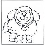Disegni da colorare Animali - Pecora